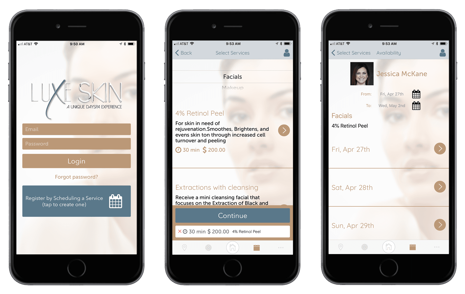 Luxe Skin Day Spa Mobile App