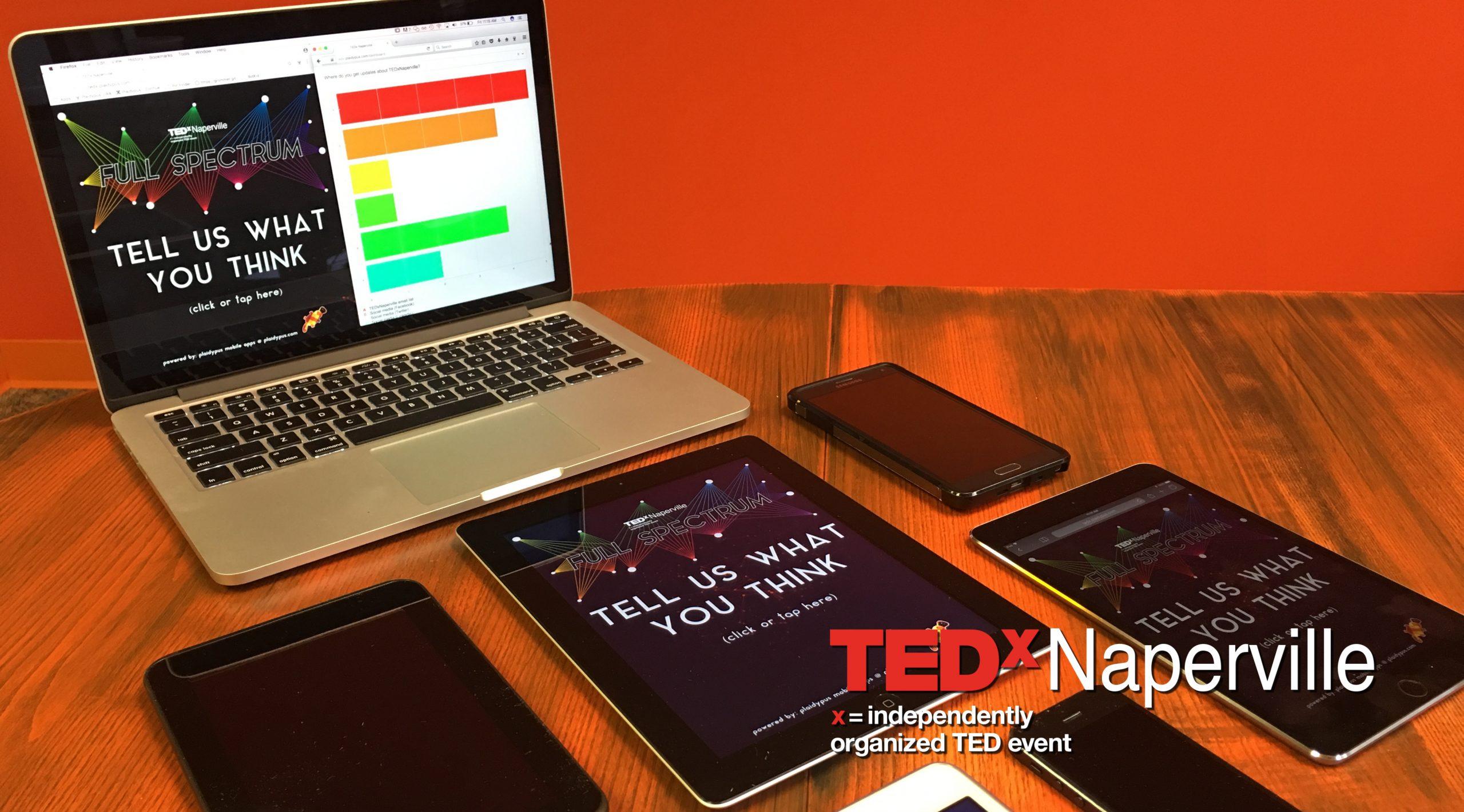 TedX Naperville Kiosk Survey Application
